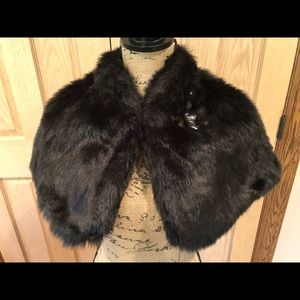 Jessica Simpson Faux Fur Cape